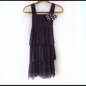 Cherokee black dress with white polka dots